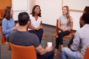 patients at an alumni program