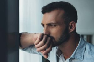 man thinking about rehab admissions process