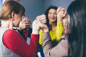 women at a women's rehab program